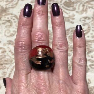 Gorgeous blown glass ring.